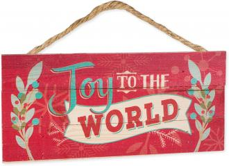 HSA 0168 Veggdekor - Joy To The World (11 x 25 cm)